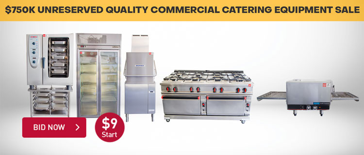 $750K UNRESERVED QUALITY COMMERCIAL CATERING EQUIPMENT SALE