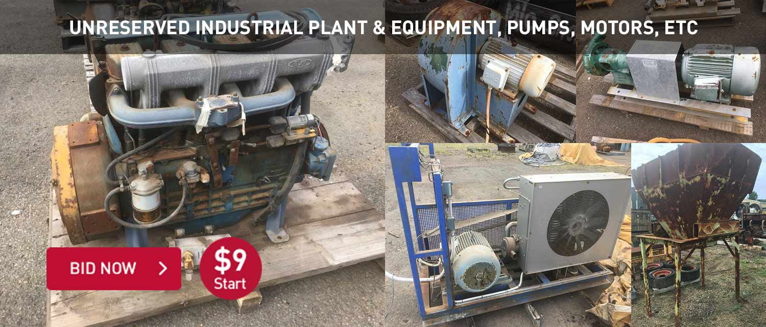 Unreserved Industrial Plant and equipment, pumps, motors, etc