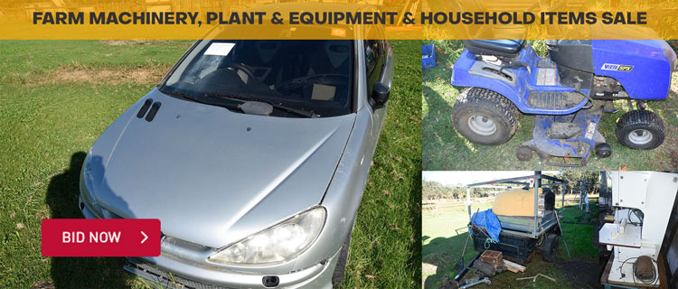 Farm Machinery, Plant & Equipment & Household Items Sale
