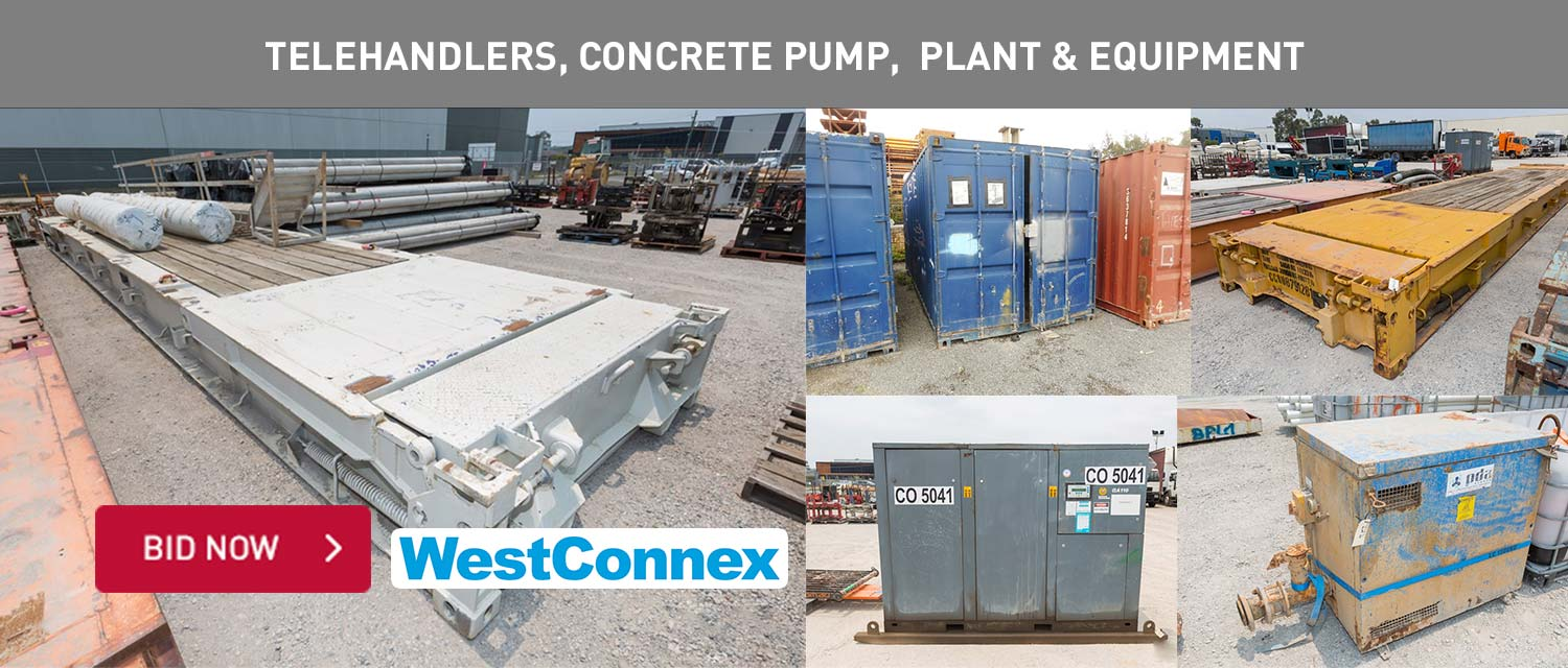 Telehandlers, concrete pump, drill rigs, plant and equipment