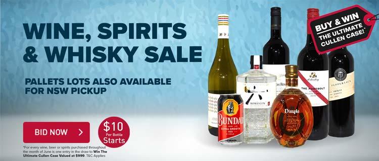 Wine, Spirits & Whisky Sale