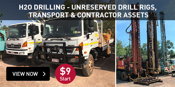 H2O drilling - Unreserved drill rigs, transport & contractor assets