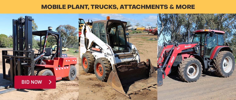 Major Event: Mobile Plant, Trucks, Attachments & More
