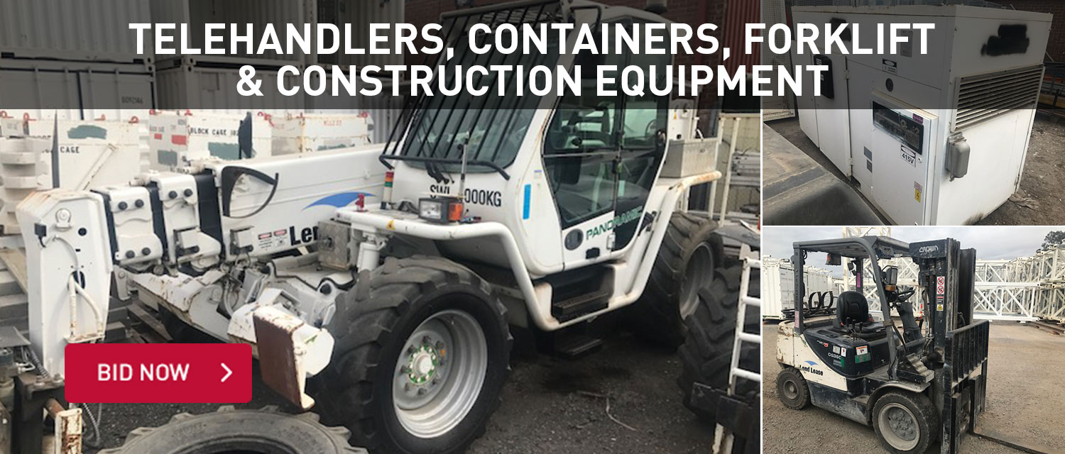 Telehandlers, containers, forklift and construction equipment