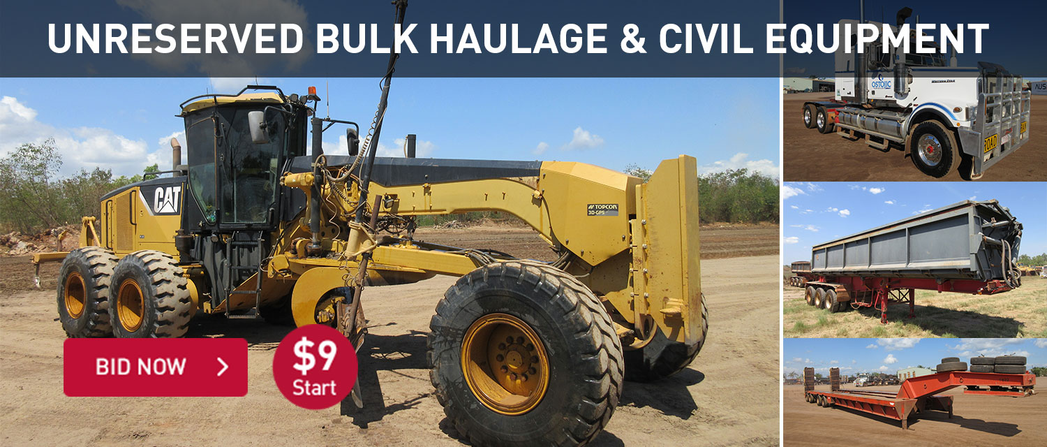 Unreserved bulk haulage and civil equipment