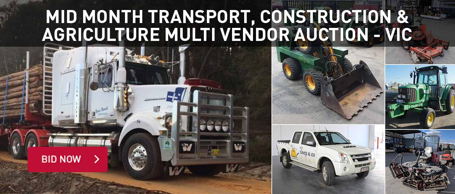 Mid Month Transport, construction and agricutlure multi vendor auction