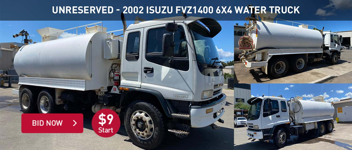 Unreserved - 2002 Isuzu FVZ1400 6x4 Water Truck