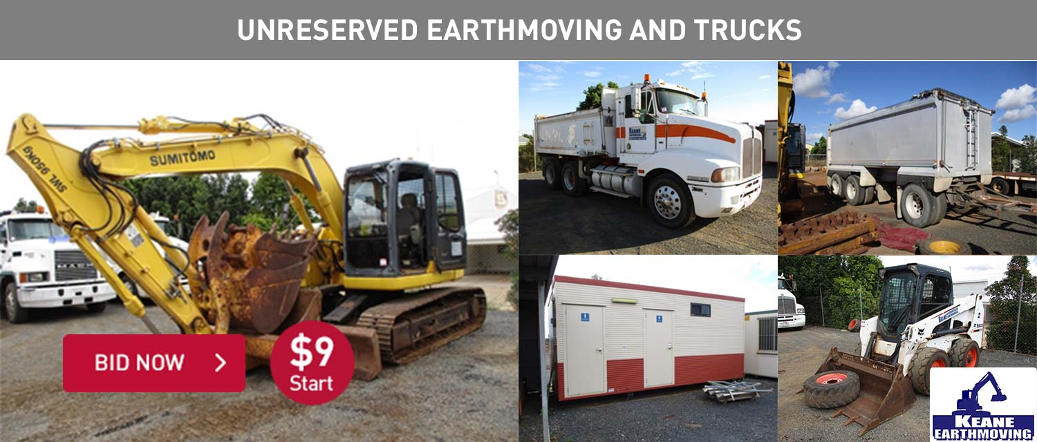 Unreserved Earthmoving and Trucks