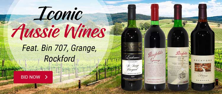 Iconic Aussie Wines feat Bin 707, Grange, Rockford
