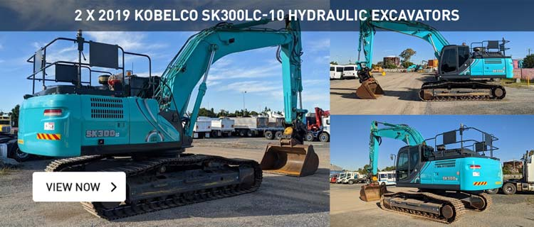 Offers Invited - 2 x 2019 Kobelco SK300LC-10 Hydraulic Excavators