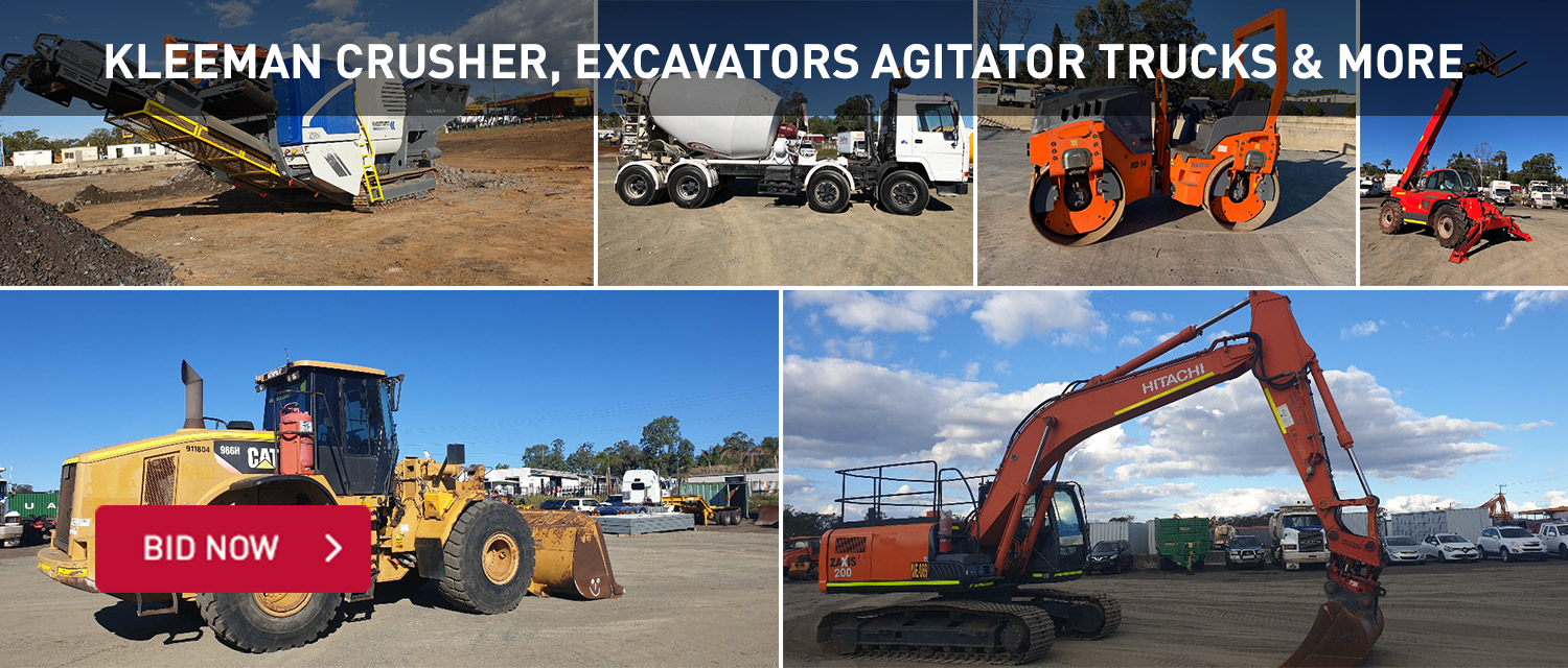 Kleenman Crusher, excavators agitator trucks and more