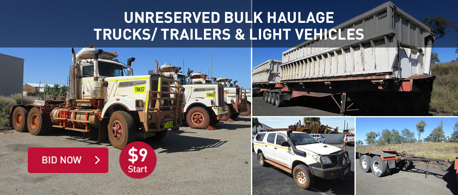 Unreserved Bulk Haulage Trucks/ Trailers & Light Vehicles