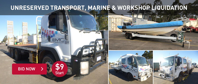 Unrserved Transport, Marine & Workshop Liquidation