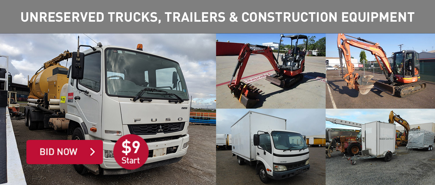 Unreserved Trucks, Trailers and Construction eequipment