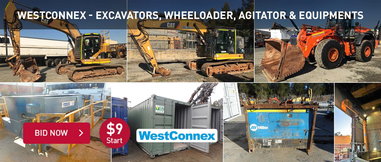 Westconnex Excavators, Wheeloader, Agitator & Equipments