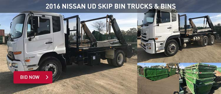2016 Nissan UD Skip Bin Trucks & Bins