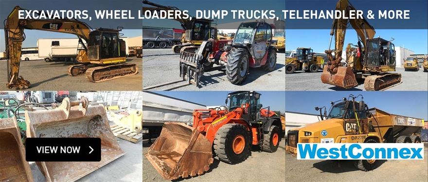 Excavators, Wheel loaders, dump trucks, telehandler and More