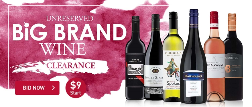 Unreserved Big Brand Wine Clearance