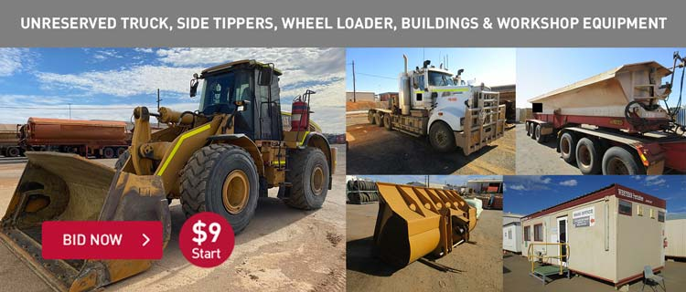 Unreserved Truck, Side Tippers, Wheel Loader, Buildings & Workshop Equipment