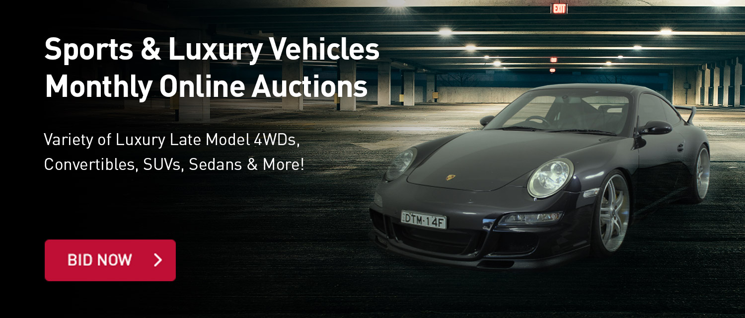 Sports & Luxury Vehicles Monthly Auctions
