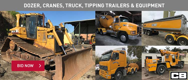 Dozer, Cranes, Truck, Tipping Trailers & Equipment