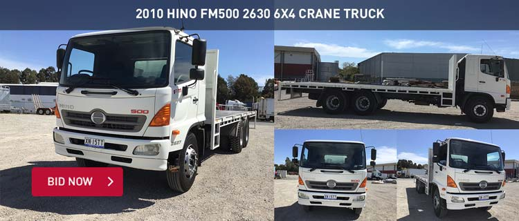 2010 Hino FM500 2630 6x4 Crane Truck