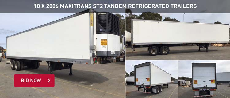 10 x 2006 Maxitrans ST2 Tandem Refrigerated Trailers