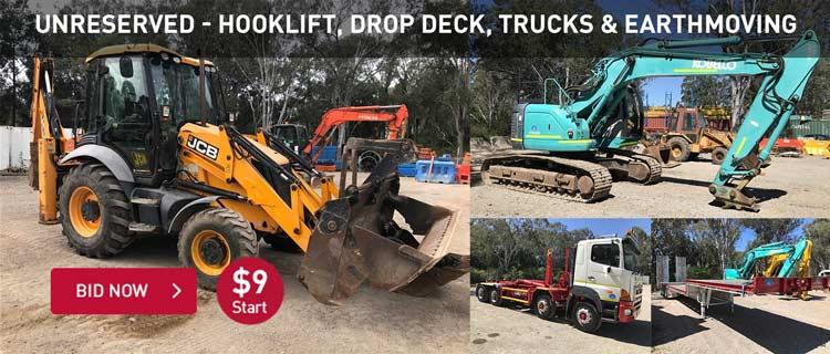 Unreserved - Hooklift, Drop Deck, Trucks & Earthmoving