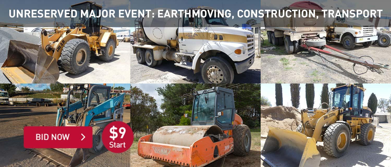 Unreserved Major Event: Earthmoving, Construction, Transport