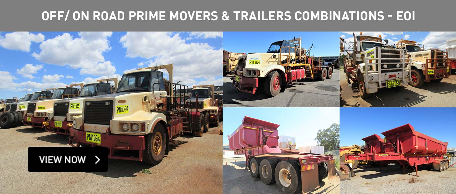 OFF/ON Road Prime Movers and Trailers Combinations -EOI