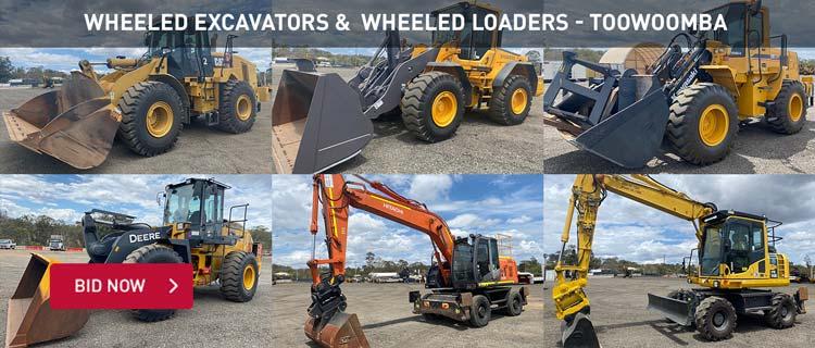 Wheeled Excavators &  Wheeled Loaders - Toowoomba