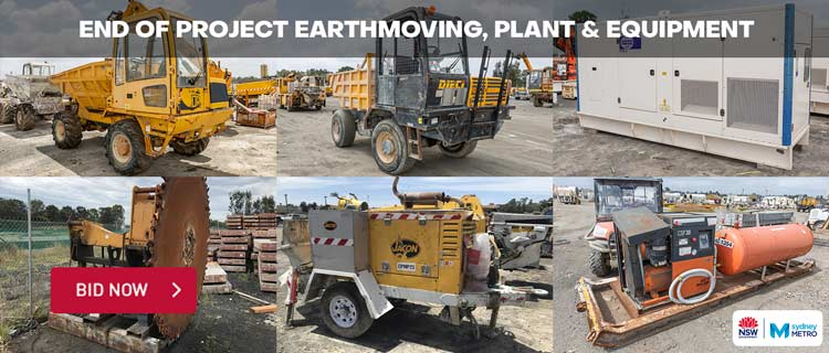 End of Project Earthmoving, Plant & Equipment