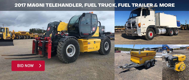 2017 Magni Telehandler, Fuel Truck, Fuel Trailer & More
