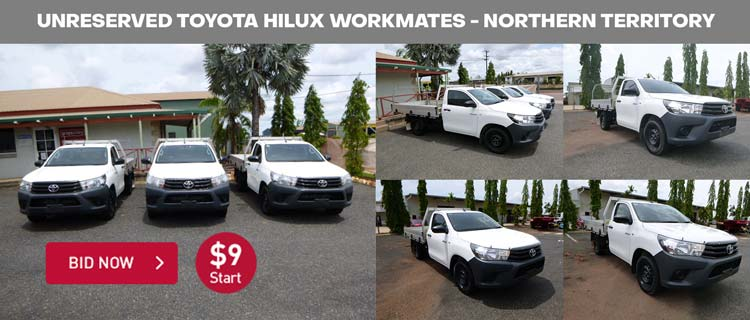 Unreserved Toyota Hilux Workmates - Northern Territory