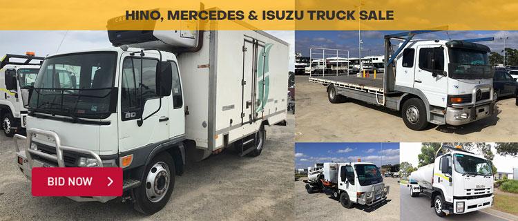 Hino, Mercedes & Isuzu Truck Sale