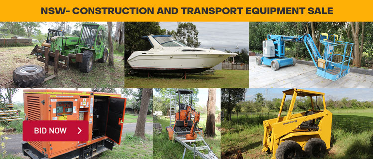 Construction and Transport Equipment Sale- NSW