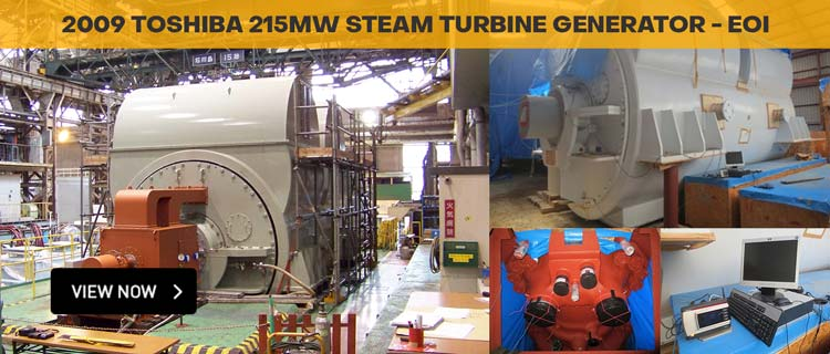 2009 Toshiba 215MW Steam Turbine Generator – Tender