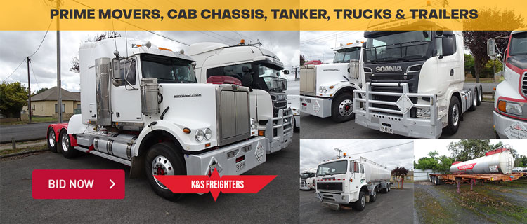 Prime Movers, Cab Chassis, Tanker Trucks & Trailers