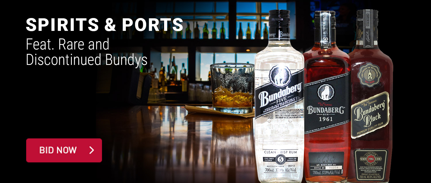 Spirits and Ports Feat Rare and discontinued bundys