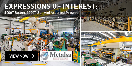Expression of Interest: 1500T, 1000T Jier and Assorted Presses