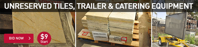 Unreserved Tiles, Trailer & Catering Equipment