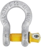 10 x Bow Shackles, WLL 0.75T, Screw Pin Type, Grade S, Yellow Pin. Buyers N