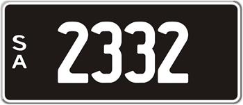 4 Digit Number Plates