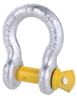 10 x Bow Shackles, WLL 1T, Screw Pin Type, Grade S, Yellow Pin. Buyers Note