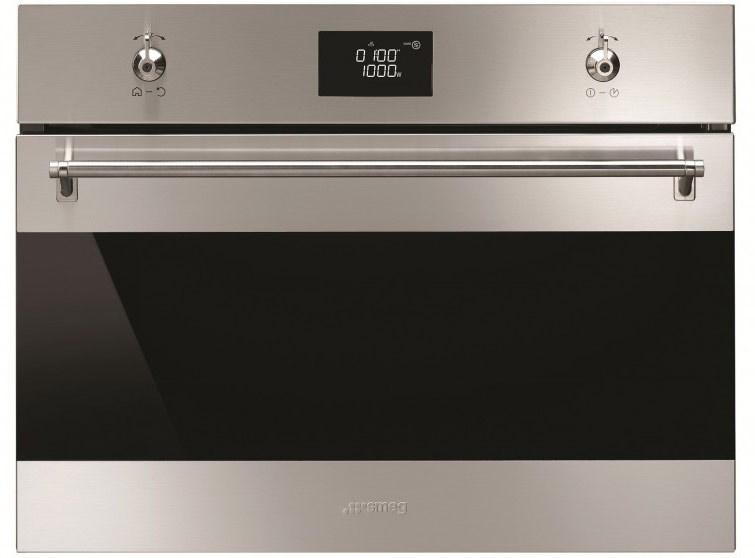 Smeg 60cm Classic Compact Microwave Oven - Model SFA4390MX