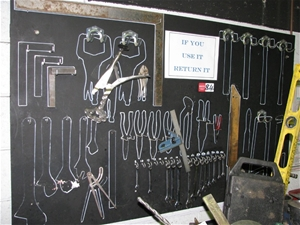 Wall Shadow Tool Board And Remaining Tools Including