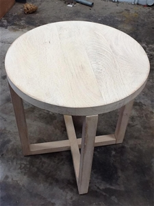 Tokyo Round Side Table Whitewash Rrp 172 Auction 0004 1301378 Graysonline Australia