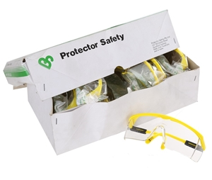 12 Pairs x PROTECTOR Safety Specs with C
