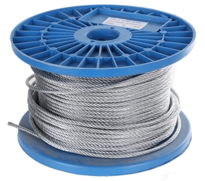 Reel 100M x Galv. Wire Rope 4mm dia., Co