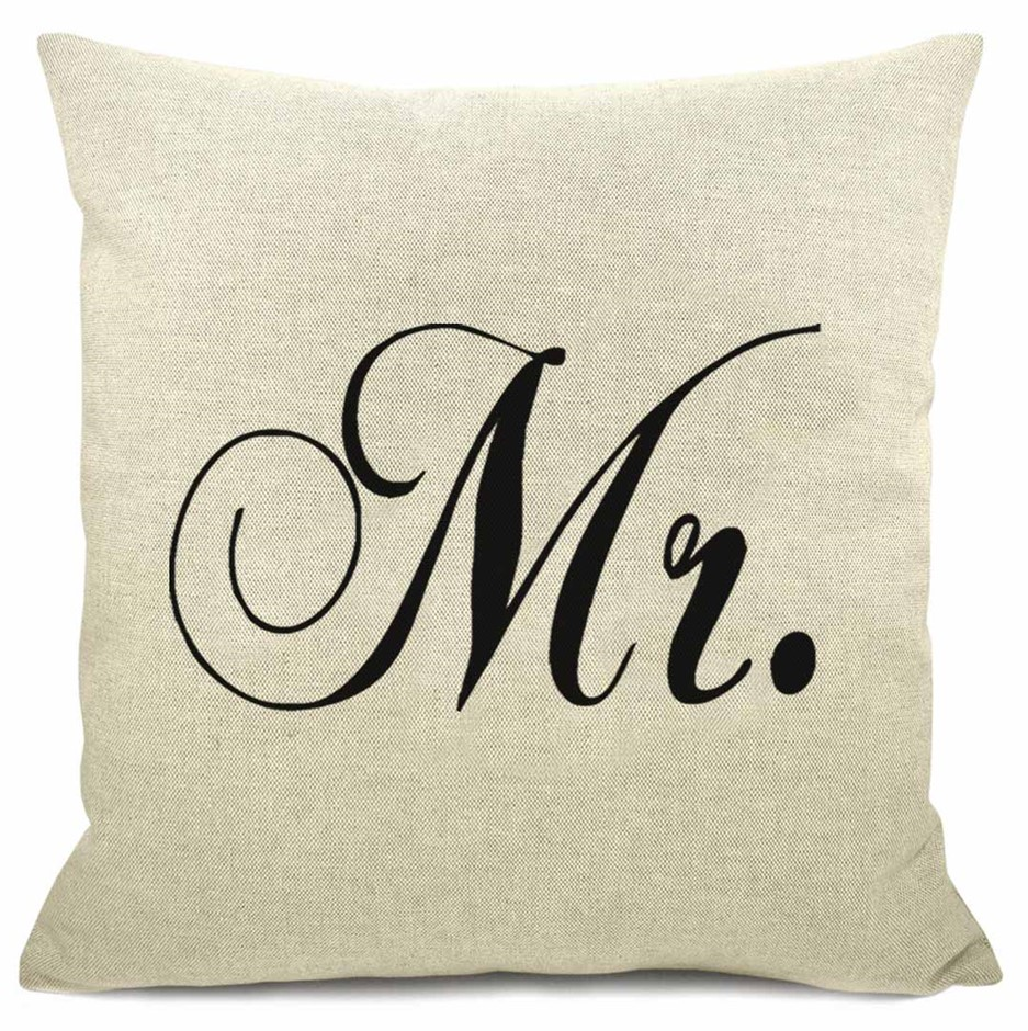 WORD CUSHION - Mr White